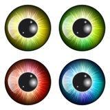 Глаз, зрачок, радужка, дизайн значка символа вектора Красивое illustrat иллюстрация штока
