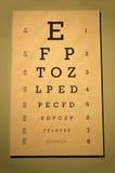 глаз диаграммы snellen Стоковые Изображения