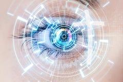 Глаз и крест цифров Стоковые Изображения