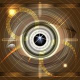 Глаз кибер иллюстрация штока