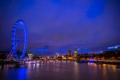Глаз Лондона, Лондон Великобритания Стоковая Фотография RF