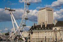 Глаз Лондона от Вестминстера Стоковое фото RF