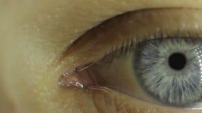 Глаз молодого парня