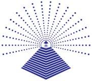 Глаз Freemason иллюстрации Провиденса иллюстрация штока