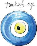Глаз turkish вектора акварели Стоковые Фотографии RF