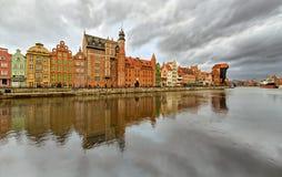 Гданьск, набережная главного города Стоковое Изображение RF