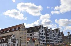 Гданьск, Польша 25-ое августа: Исторические здания в Гданьске от Польши Стоковые Изображения RF