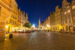 Гданьск, Польш-сентябрь 19,2015: Башня ратуши и основы стоковое фото rf