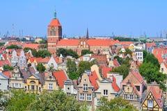 Гданьск, старый городок Стоковое Изображение
