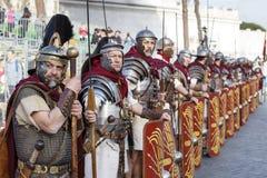 Гладиаторы в линии стоковое изображение rf