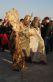 Гладиаторы золота стоковые фото