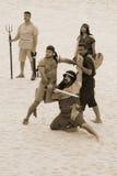 гладиаторы римские стоковое изображение