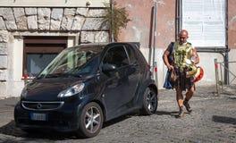 Гладиатор на его пути работать в Риме, Италии Стоковые Изображения RF