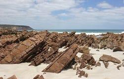 Гладит рукой залива, острова кенгуруа стоковые фотографии rf
