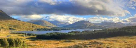 Глен Coe, гористая местность, Шотландия, Великобритания Стоковые Фотографии RF