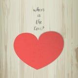 Где влюбленность Вдохновляющая фраза, цитата Стоковое фото RF