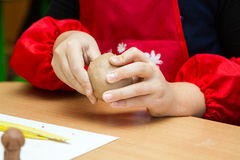 глина ребенка ваяет Стоковая Фотография RF