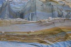 Глина, утес и песок в слоях Стоковое Изображение