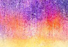 Глициния цветет картина акварели Стоковые Изображения