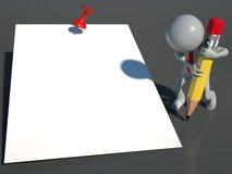 Г-н 3D: Напоминание Стоковые Изображения