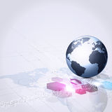 Глобальная абстрактная предпосылка дела связи Стоковая Фотография