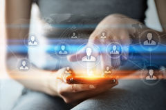Глобальная всемирная концепция интернета технологии сети дела связи Стоковые Фотографии RF