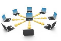 глобальная вычислительная сеть компьютера Стоковые Изображения RF