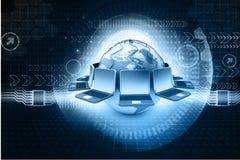глобальная вычислительная сеть компьютера Стоковые Фото