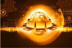 глобальная вычислительная сеть компьютера Стоковые Фотографии RF