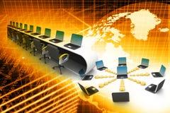 глобальная вычислительная сеть компьютера Стоковая Фотография RF