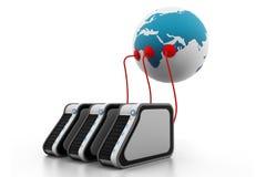 глобальная вычислительная сеть компьютера Стоковое Изображение RF