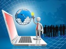 глобальная вычислительная сеть компьютера Стоковое Изображение