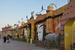 Глобальная деревня в Дубай, ОАЭ стоковые изображения rf