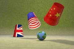 Глобальная игра чашек Стоковое фото RF