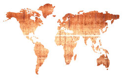 Глобальная изолированная карта стоковое изображение rf