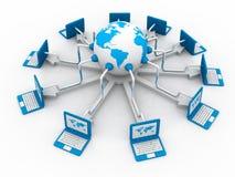 Глобальная компьютерная сеть Стоковые Фото