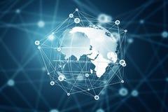 Глобальная концепция беспроводной связи стоковые фото
