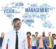Глобальная концепция карты мира зрения обучения управленческих кадров Стоковое Фото