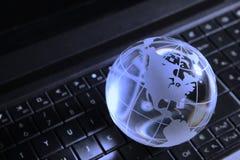 Глобальная концепция компьютера Стоковое Изображение