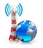 Глобальная концепция радиосвязей Стоковые Изображения