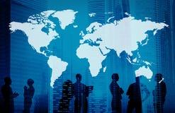 Глобальная концепция International дела картоведения мира Стоковое Фото