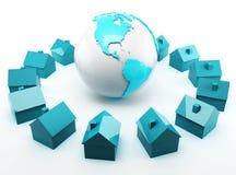 Глобальная недвижимость Стоковое Изображение