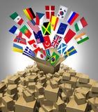 Глобальная доставка поставки Стоковое Изображение