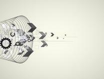 Глобальная предпосылка дела концепции компьютерной технологии безграничности Стоковые Фотографии RF