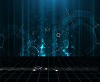 Глобальная предпосылка дела концепции компьютерной технологии безграничности иллюстрация вектора