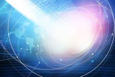 Глобальная предпосылка интернет-связи Стоковое фото RF