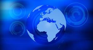 Глобальная предпосылка сини технологии Стоковое Изображение