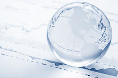 Глобальная принципиальная схема вклада Стоковое Изображение RF