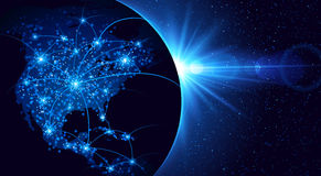 Глобальная связь Стоковое фото RF