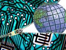 Глобальная угроза безопасностью интернета Стоковое фото RF